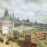 Apollinaris M. Vasnetsov - Rise of the Kremlin. Saints Bridge and the Kremlin at the end of XVII century. 1922