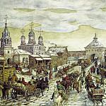Apollinaris M. Vasnetsov - Y Miasnitsky gates of the White City in the XVII century. 1926