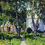 Apollinaris M. Vasnetsov - In the churchyard. Demyanovo. 1917