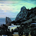 Apollinaris M. Vasnetsov - New Simeiz. Twilight. 1906