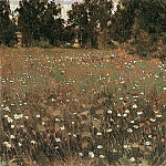 flowering meadow. 1882-1885, Apollinaris M. Vasnetsov