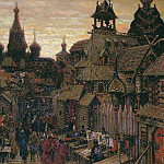 Street in China Town. Beginning of the XVII century. 1900, Apollinaris M. Vasnetsov