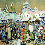 Apollinaris M. Vasnetsov - Urban area of XVII century