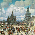 Apollinaris M. Vasnetsov - Red Square in the second half of XVII century. 1925