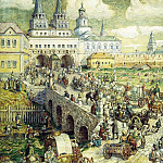 Apollinaris M. Vasnetsov - public transport in the Resurrection bridge in the XVIII century. 1926