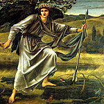 Love Leading The Pilgrim, Sir Edward Burne-Jones