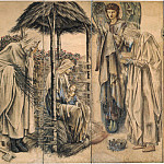 Adoration of the Magi Tapestry cartoon, Sir Edward Burne-Jones