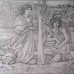 Chant dAmour drawing, Sir Edward Burne-Jones