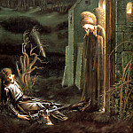 The Dream Of Launcelot At The Chapel Of The Holy Grail, Sir Edward Burne-Jones