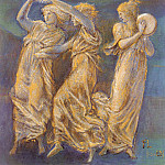 Coley Three Female Figures Dancing And Playing, Sir Edward Burne-Jones