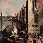 Grand Canal Looking East From The Campo San Vio detail, Canaletto (Giovanni Antonio Canal)