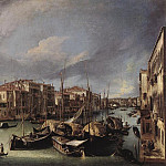 The Grand Canal with the Rialto Bridge in the Background, Canaletto (Giovanni Antonio Canal)
