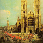 London- Westminster Abbey with a Procession of the, Canaletto (Giovanni Antonio Canal)