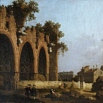 The Basilica of Maxentius, Canaletto (Giovanni Antonio Canal)
