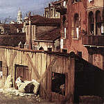 Canaletto (Giovanni Antonio Canal) - The Stonemasons Yard detail