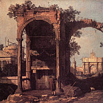 Ruins And Classic Buildings, Canaletto (Giovanni Antonio Canal)