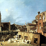 Canaletto The Stonemason-s Yard, Canaletto (Giovanni Antonio Canal)