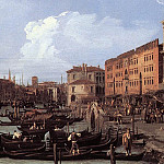 Canaletto (Giovanni Antonio Canal) - The Molo Looking West detail