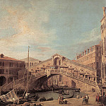 Grand Canal The Rialto Bridge From The South, Canaletto (Giovanni Antonio Canal)