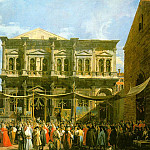 Venice The Feast Day of St. Roch (The Doge Visiti, Canaletto (Giovanni Antonio Canal)