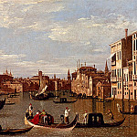 Canal Giovanni Antonio View Of The Grand Canal And Santa Maria Della Salute With Boats And Figures In The Foreground Venice, Canaletto (Giovanni Antonio Canal)