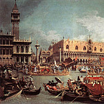 The Bucintoro Returning To The Molo On Ascension Day, Canaletto (Giovanni Antonio Canal)