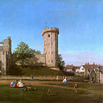 Warwick Castle- The East Front, 1748-49, Birmigham, Canaletto (Giovanni Antonio Canal)