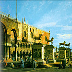The Horses of San Marco in the Piazzett, Canaletto (Giovanni Antonio Canal)