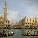 Titian (Tiziano Vecellio) - View of the Bacino di San Marco