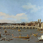 london, westminster bridge from the north on lord mayors day, 19 october 1746, Canaletto (Giovanni Antonio Canal)