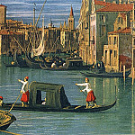 The Grand Canal and the Church of the Salute (detail, Canaletto (Giovanni Antonio Canal)
