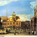 Piazza San Marco-Clocktower, Canaletto (Giovanni Antonio Canal)