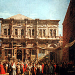 Canaletto (Giovanni Antonio Canal) - Canaletto The Feast Day of St Roch