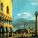 The Piazzetta- Looking South, 1727, Royal Collecti, Canaletto (Giovanni Antonio Canal)