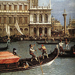 Canaletto (Giovanni Antonio Canal) - Return Of The Bucentoro To The Molo On Ascension Day detail