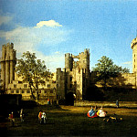 Canaletto The Eastern Facade Of Warwick Castle, Canaletto (Giovanni Antonio Canal)