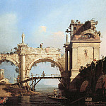 Capriccio and ruined arcade , Canaletto (Giovanni Antonio Canal)