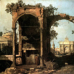 CANALETTO Capriccio Ruins And Classic Buildings, Canaletto (Giovanni Antonio Canal)