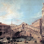 CANALETTO Grand Canal The Rialto Bridge From The South, Canaletto (Giovanni Antonio Canal)