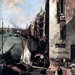 CANALETTO Grand Canal Looking East From The Campo San Vio detail, Canaletto (Giovanni Antonio Canal)