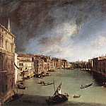 Canaletto (Giovanni Antonio Canal) - Grand Canal Looking Northeast From Palazo Balbi Toward The Rialto Bridge