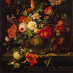 Mignon, Abraham. Flowers in a Vase, part 08 Hermitage