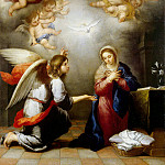 Murillo, Bartolome Esteban. Annunciation, part 08 Hermitage