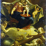 Martinez, Sebastian. Virgin and Child seated on a throne in the clouds, part 08 Hermitage