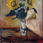 Matisse, Henry. Sunflowers in a Vase, part 08 Hermitage