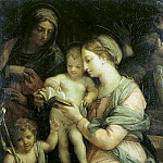 Maratti, Carlo. Madonna teaches reading Christ, part 08 Hermitage