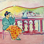 Matisse, Henry. Lady on the terrace, Henri Matisse
