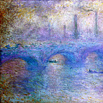 Monet, Claude. Waterloo Bridge. Fog effect, Claude Oscar Monet