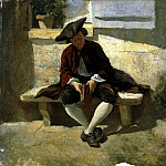 Meyssone, Jean Louis Ernest. Youth with a book, Louis Meijs