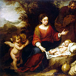 Murillo, Bartolome Esteban. Rest of the Holy Family on the Flight into Egypt, part 08 Hermitage